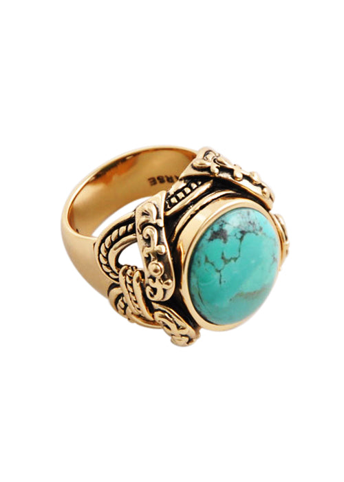 Turquoise Bronze Ring
