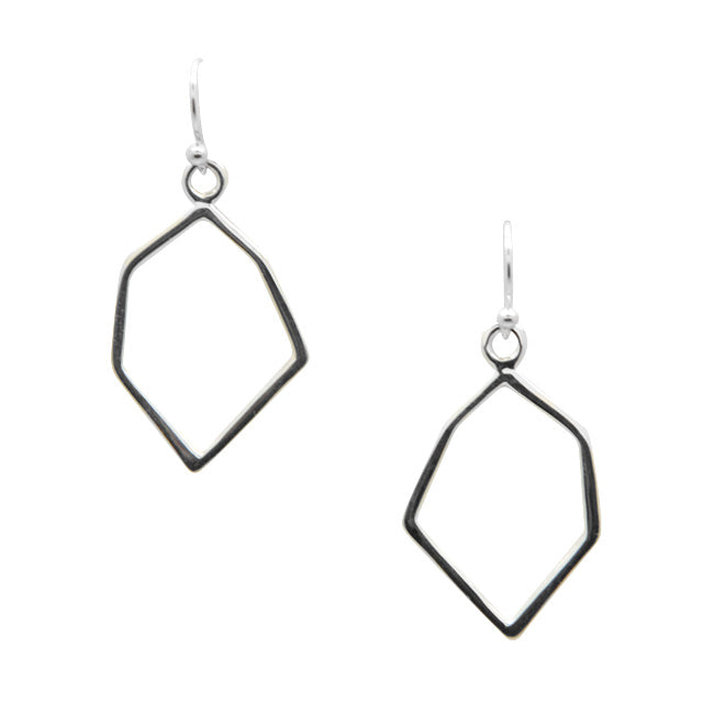 Abstract Silver Earring