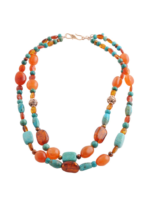 Autumn Legacy Beaded Necklace