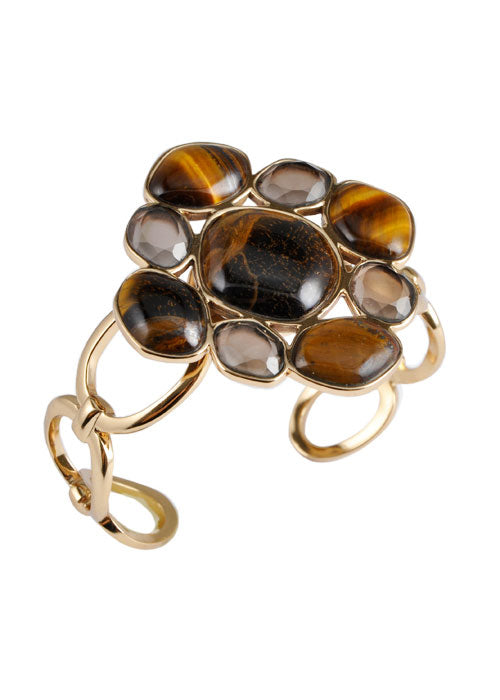 Tiger Eye Flower Bracelet