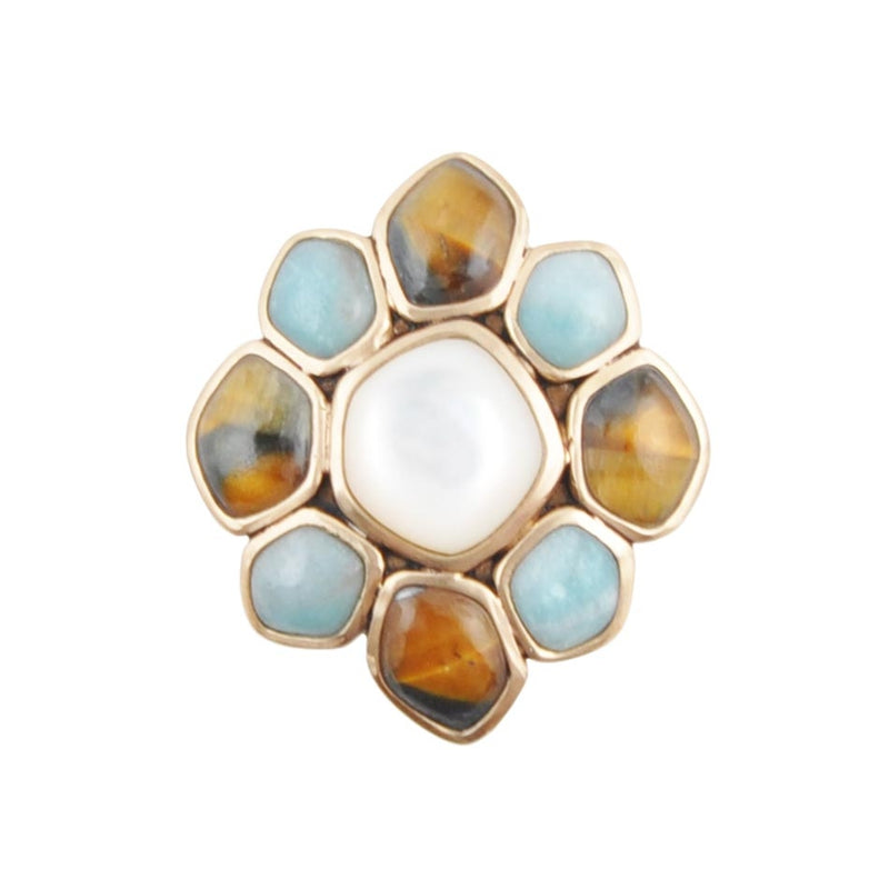 Multi-Stone Flower Ring