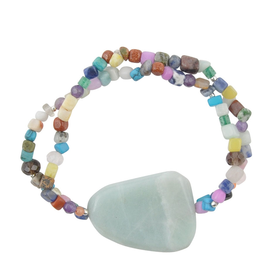 Rock Island Amazonite Stretch Bracelet