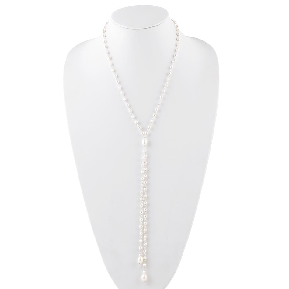Pearly Girl Lariat Necklace