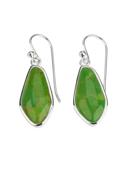 Abstract Lime Turquoise Earrings
