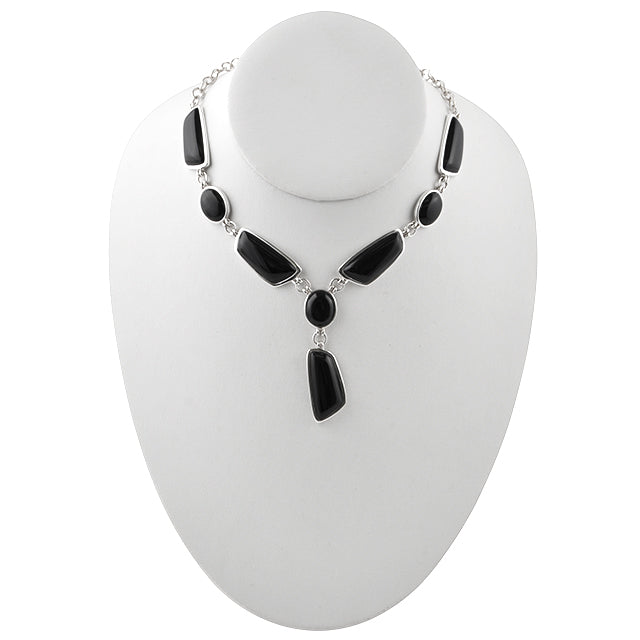 Genuine Onyx Abstract Necklace