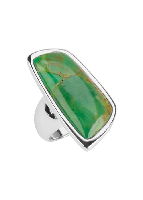 Abstract Lime Turquoise Ring