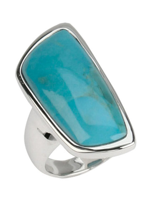 Genuine Turquoise Abstract Ring