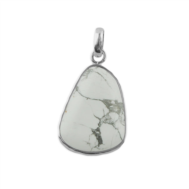 Abstract White Howlite Pendant