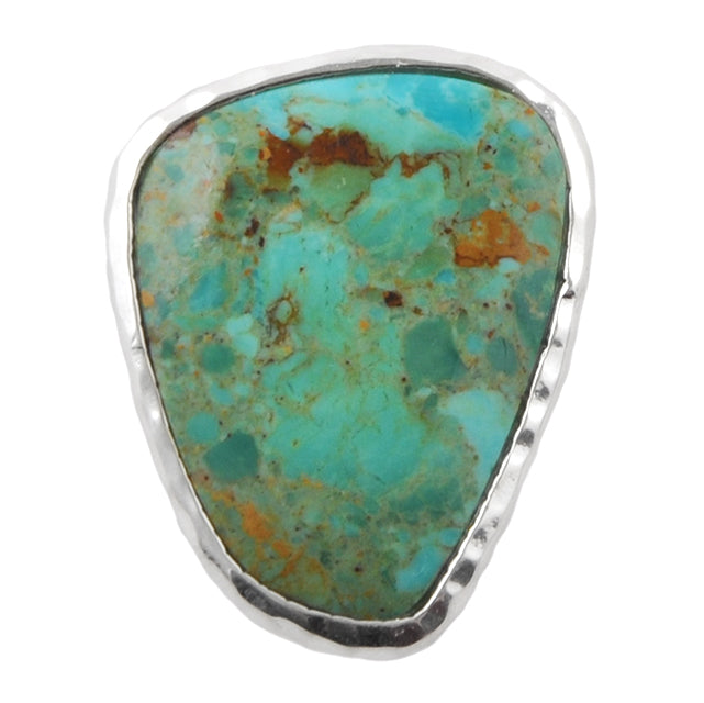 Turquoise Abstract Ring- Silver Overlay