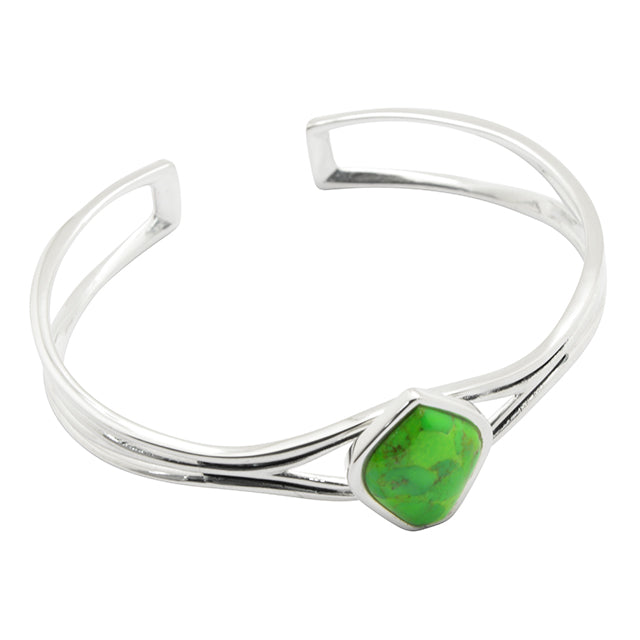 Hush Cuff Bracelet-Lime Turquoise