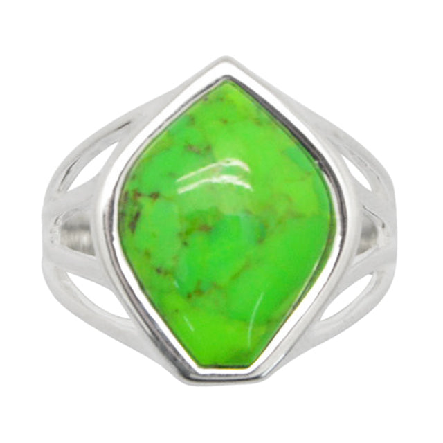 Malta Ring-Lime Turquoise