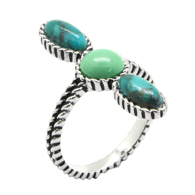 Aquavita Turquoise and Varascite Ring