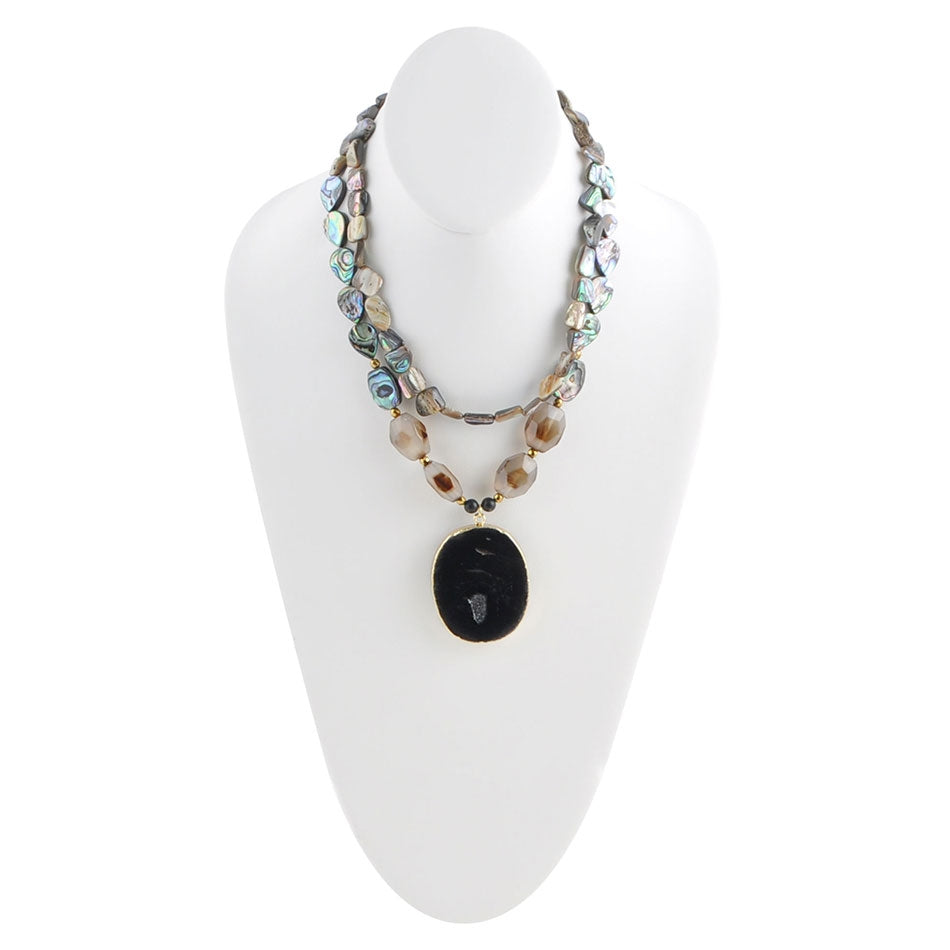 All Seasons Abalone Statement Necklace