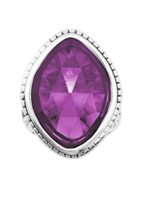 Amethyst Cubic Zirconia Marquise Ring