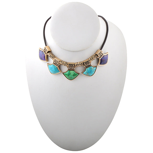 Reversible Medieval Multi-Stone Necklace