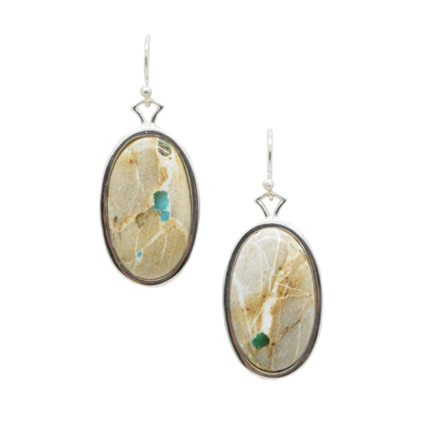 Ribbon Turquoise Oval Earring
