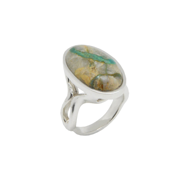 Ribbon Turquoise Oval Ring