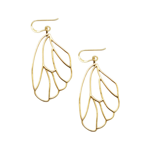 Airfoil Bronze Earring