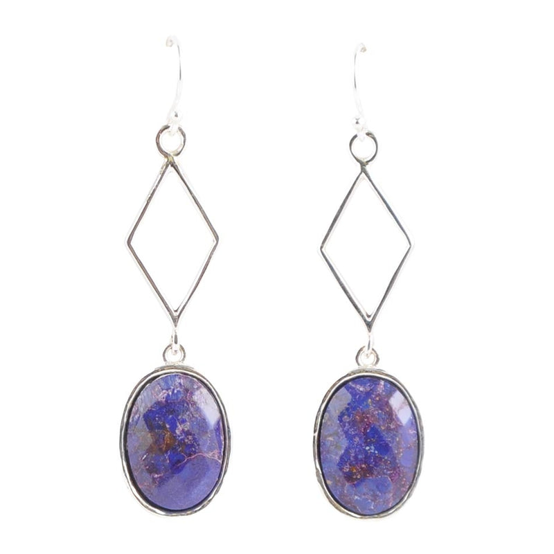 Labyrinth Purple Turquoise Earring