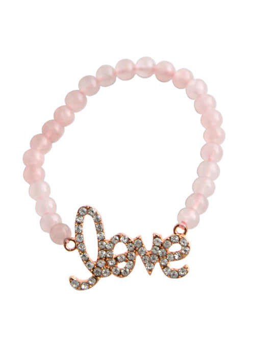 "Stretch ""Love"" Bracelet-Rose Quartz"