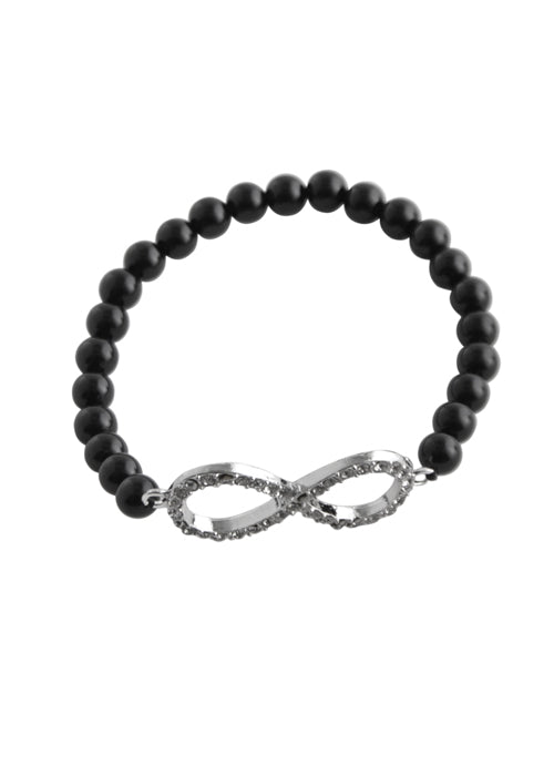 Stretch Infinity Bracelet-Black