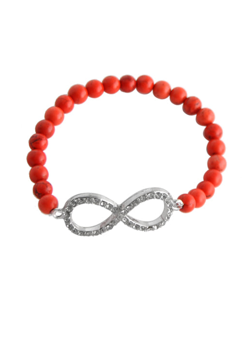 Stretch Infinity Bracelet-Red
