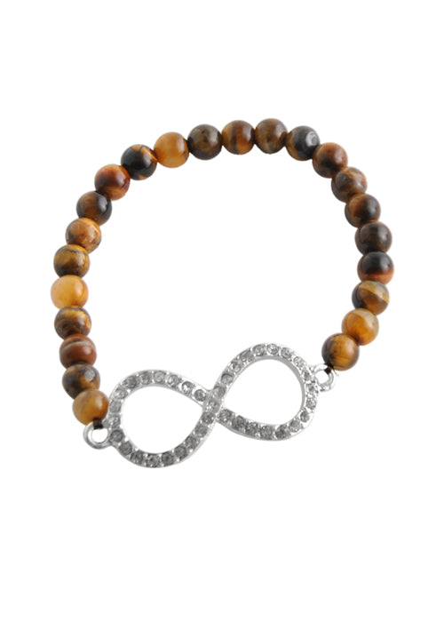 Stretch Infinity Bracelet-Tiger Eye