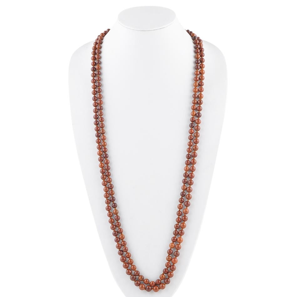 Great Lengths Stone Necklace- Brown Magnesite
