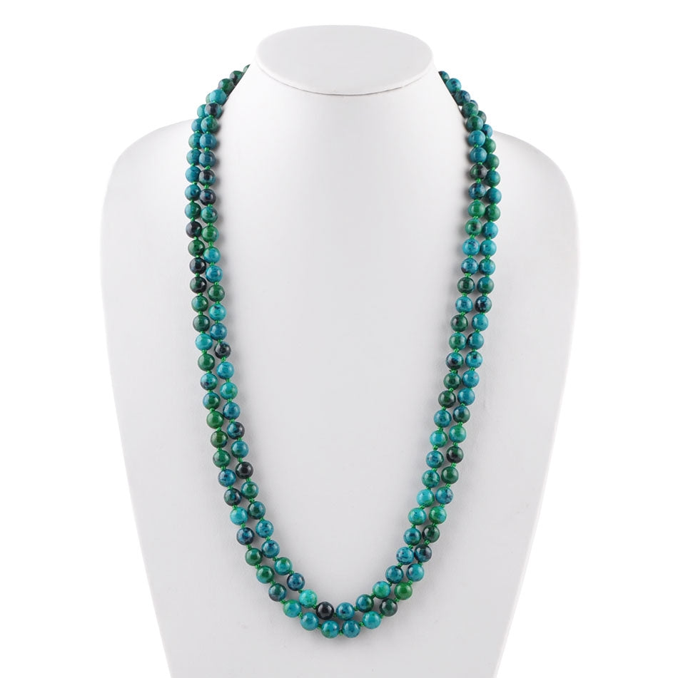 Immeasurable Bead Necklace-Azurite Magnesite