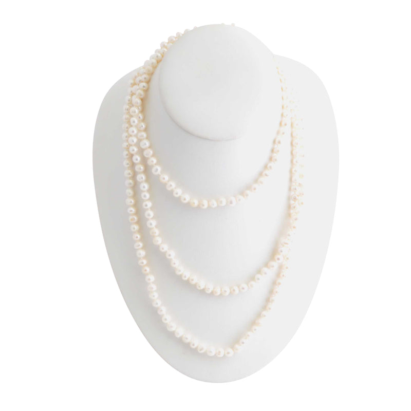 Immeasurable Stone Necklace -Freshwater Pearl