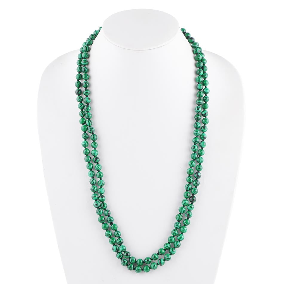 Immeasurable Bead Necklace-Malachite
