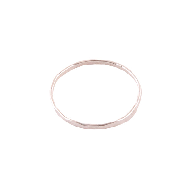 Hammered Band Skinny Ring-Sterling Silver