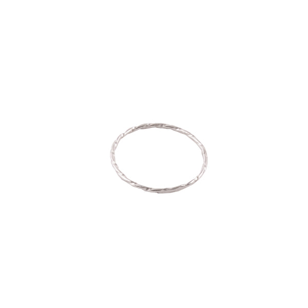 Etch a Sketch Silver Band Ring-1mm