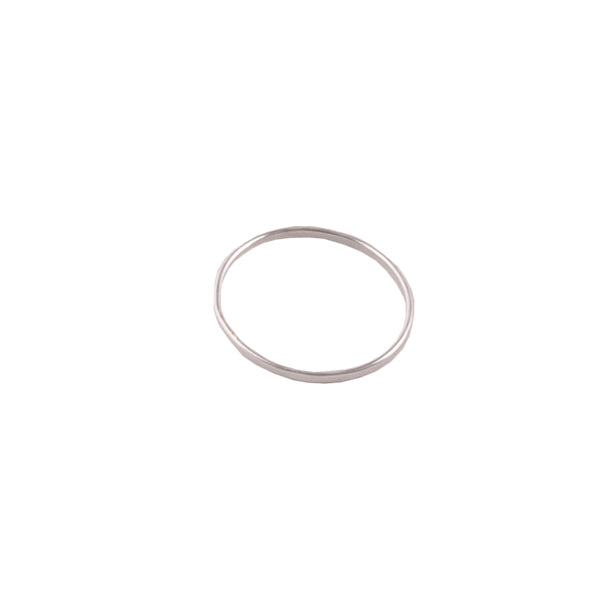 """Plain and Skinny"" Silver Band Ring-1mm"