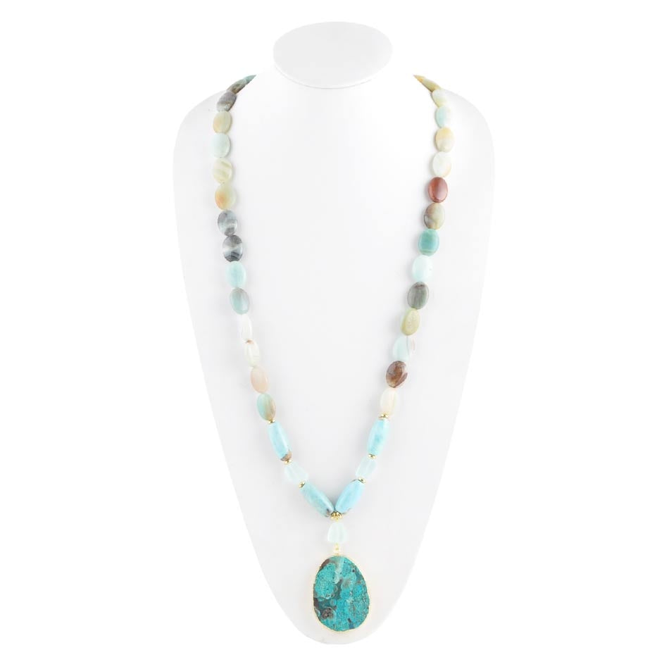 Amazonite and Jasper Necklace