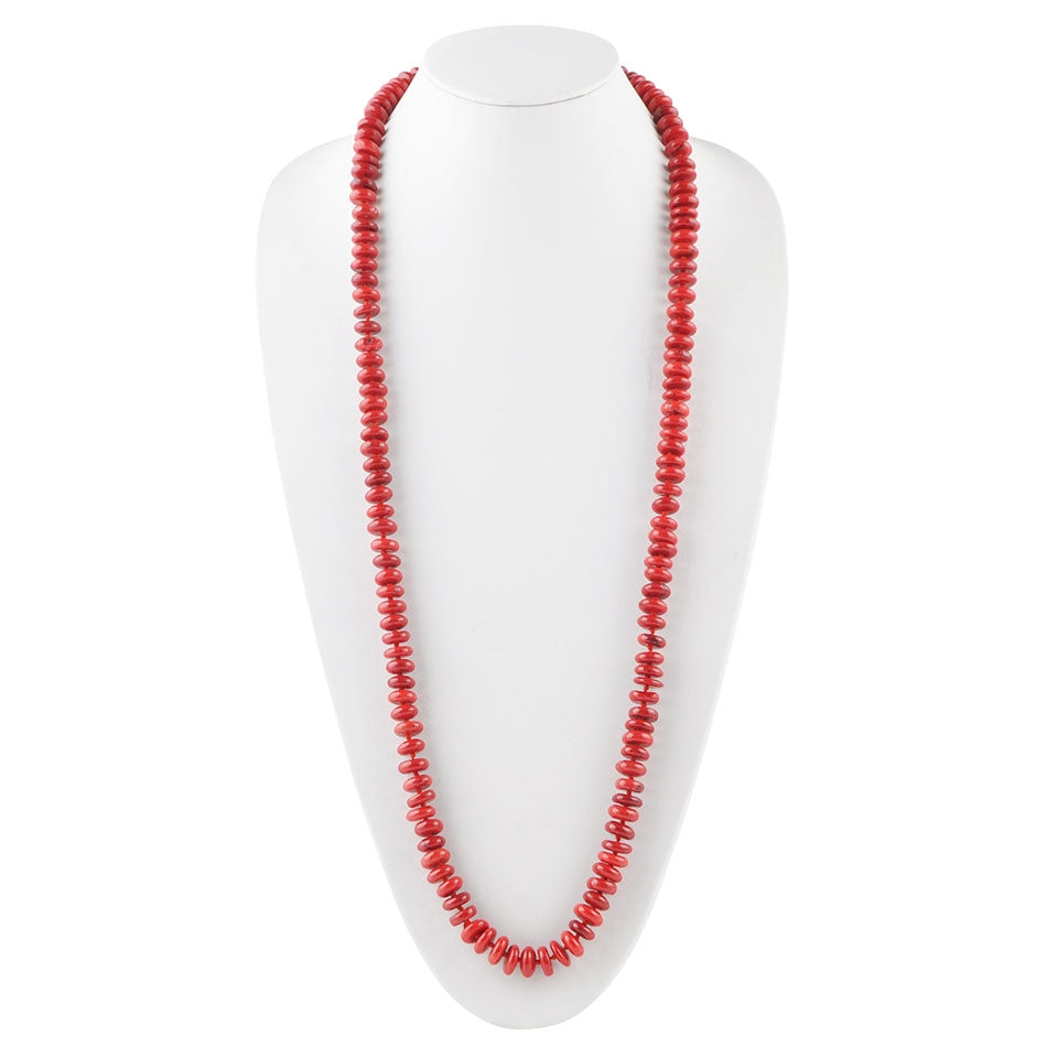 Cherry Picked Slip Necklace-Red Magnesite