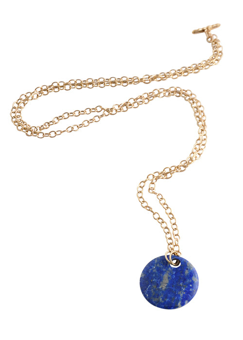 Convertible Natural Stone Necklace-Lapis