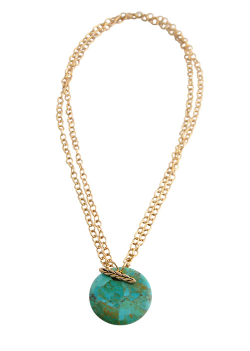 Convertible Natural Stone Necklace-Turquoise