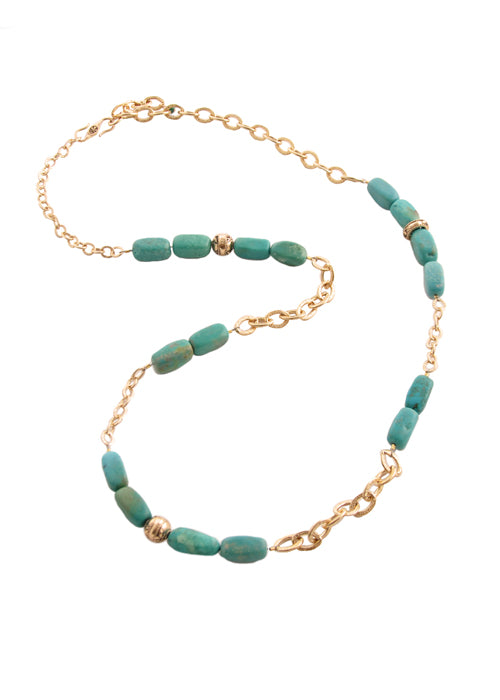 Limitless Turquoise and Bronze Necklace