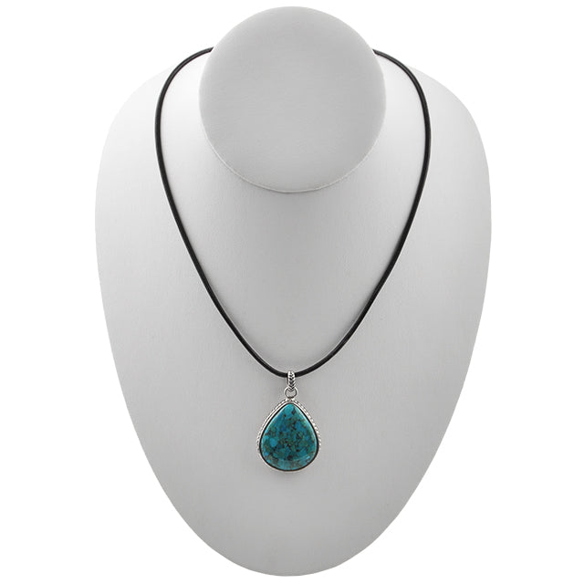 Sing the Blues Turquoise Teardrop Necklace