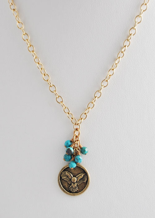 Bronze Phoenix Coin Necklace