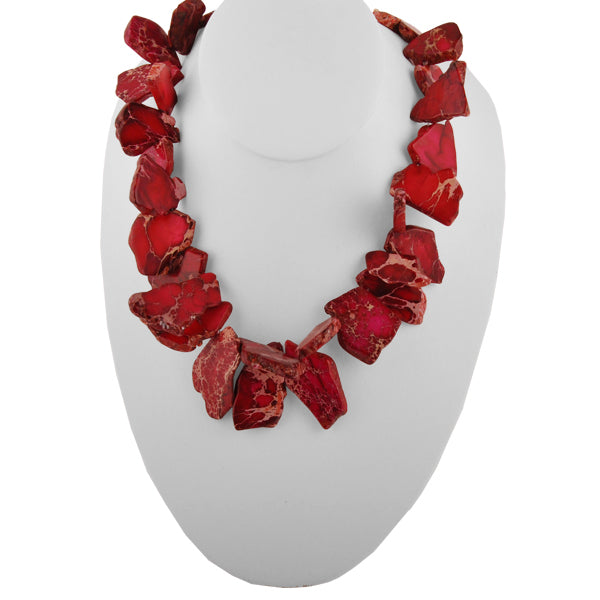 RED Me My Rights Jasper Necklace