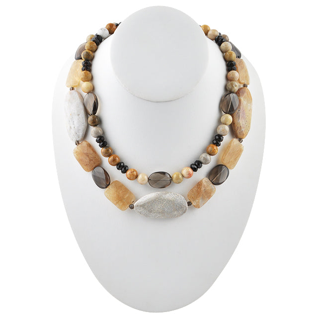 Double Latte Stone Necklace