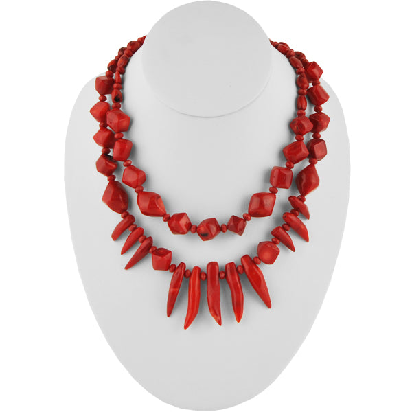 Red Coral Flare Necklace