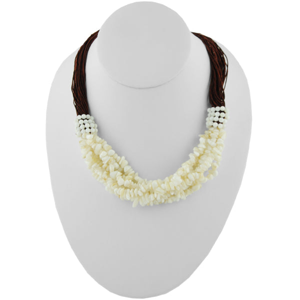 Fabulosity Stone Necklace-Mother of Pearl