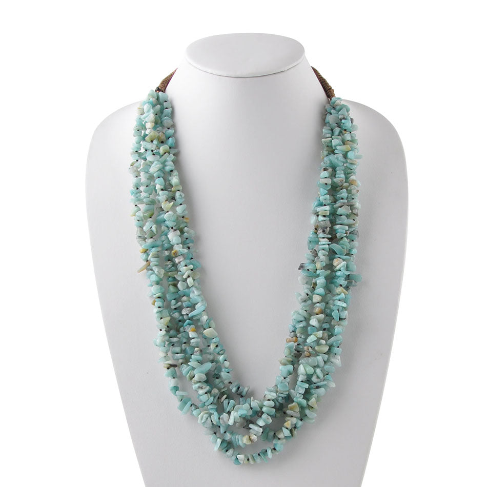 Six Strand Amazonite Necklace