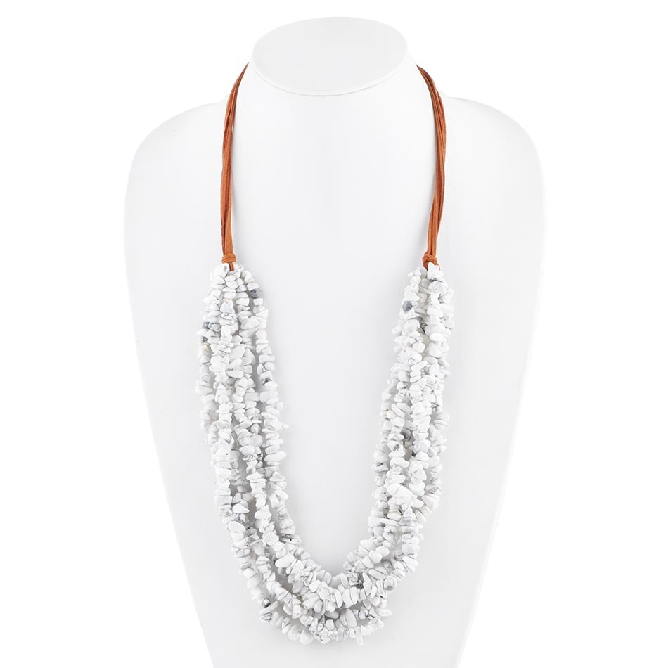 Six Strand Howlite Necklace