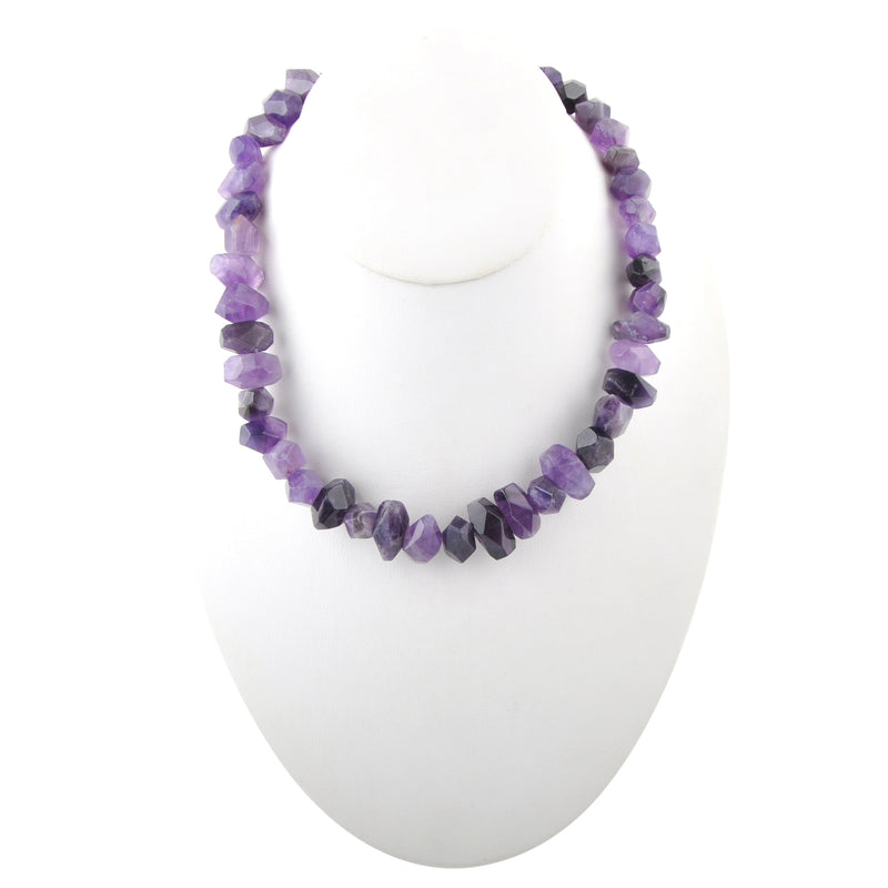 Amethyst Knotted Necklace