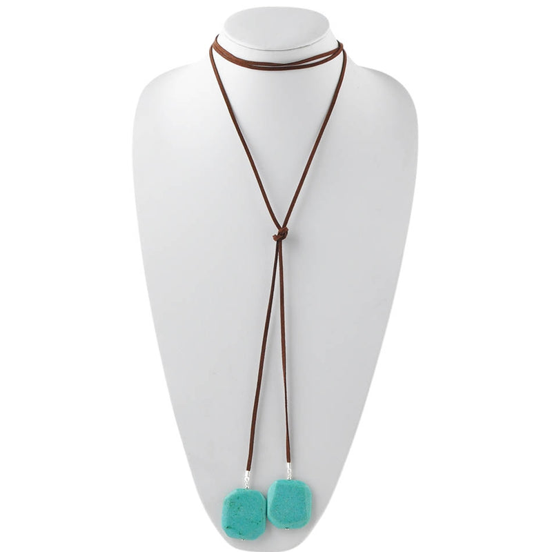 Turquoise and Leather Choker/Necklace