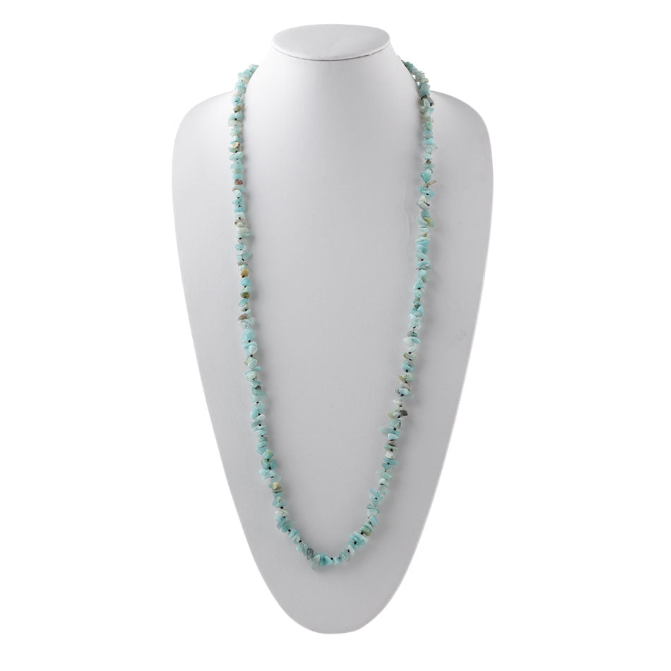Yard Party Necklace-Amazonite